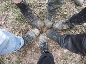 Die Wiese fängt an zum Sumpf zu werden, gutes Schuhwerk war ab jetzt gefragt