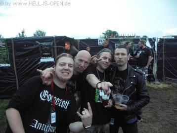 Hell-is-open Members mit Joost von CLITEATER