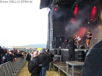 Razorgrind aus Belgien / Leng T'che blick aus dem Fotograben