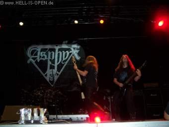 Asphyx mit einem Auftritt der absolut legendär war !!!