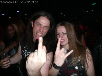 left: Ian (Deströyer 666, Adorior, Razor of Occam)