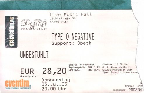 Type O Negative, Opeth :: Köln