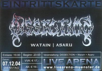 Dissection, Watain, Asaru :: Live Arena Münster
