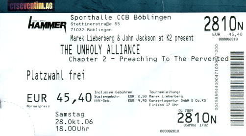 UNHOLY ALLIANCE - Preaching To The Perverted :: Slayer, In Flames, Children Of Bodom, Lamb Of God, Thine Eyes Bleed